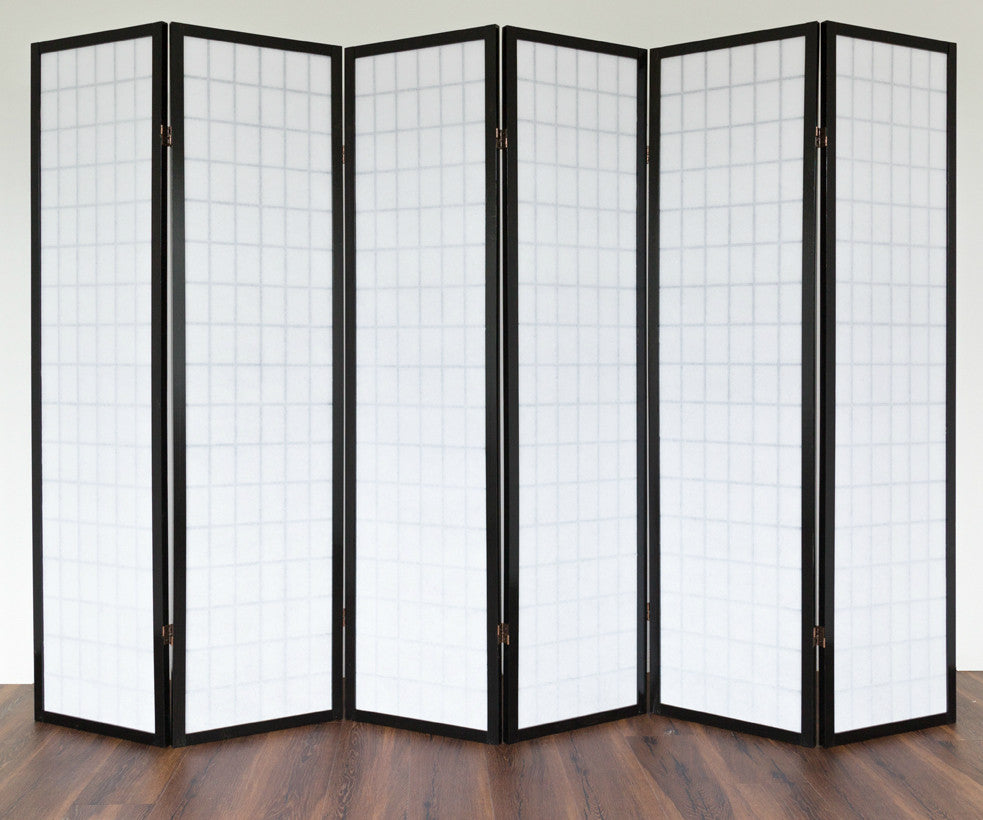 Classic black window shoji room dividers room dividers uk for Window dividers