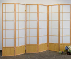 Akio Room Divider Screen - Natural - 6 Panel