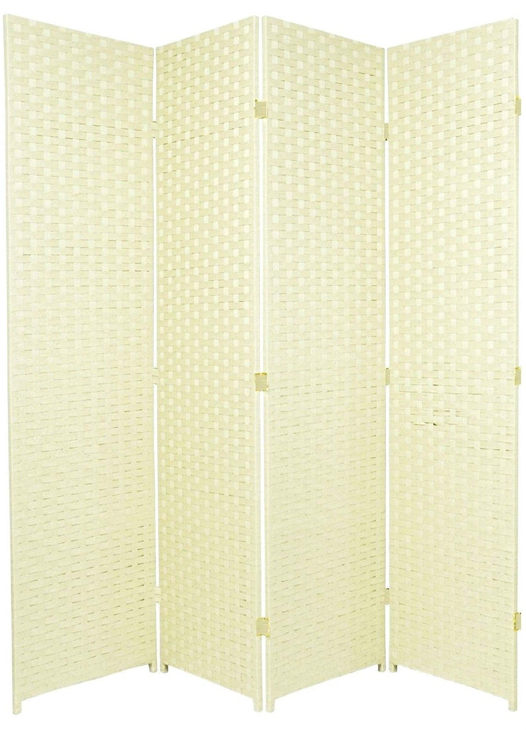 Entwine Ivory Colour Room Divider Screen - 4 Panel
