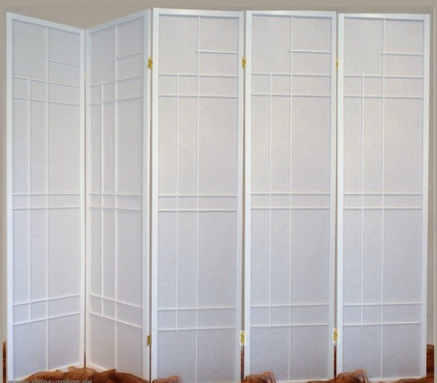 Trend Room Divider Screen - White - 5 Panel
