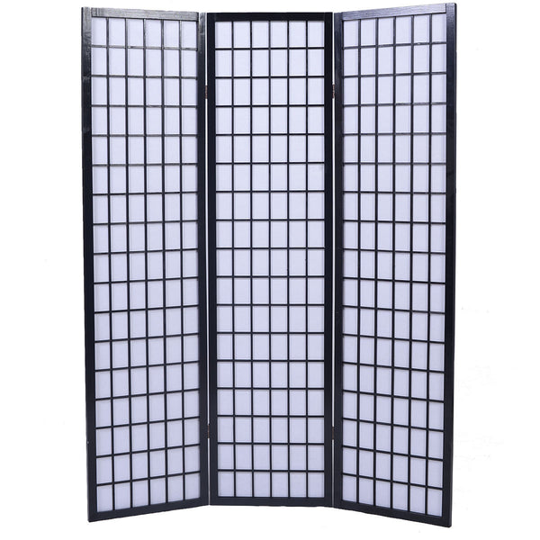 Shoji Folding Room Divider Screen 3 Panel Black Room Dividers UK