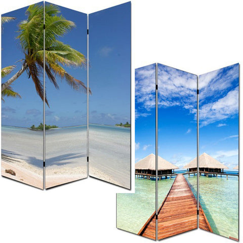 Paradise Room Divider - 3 Panel