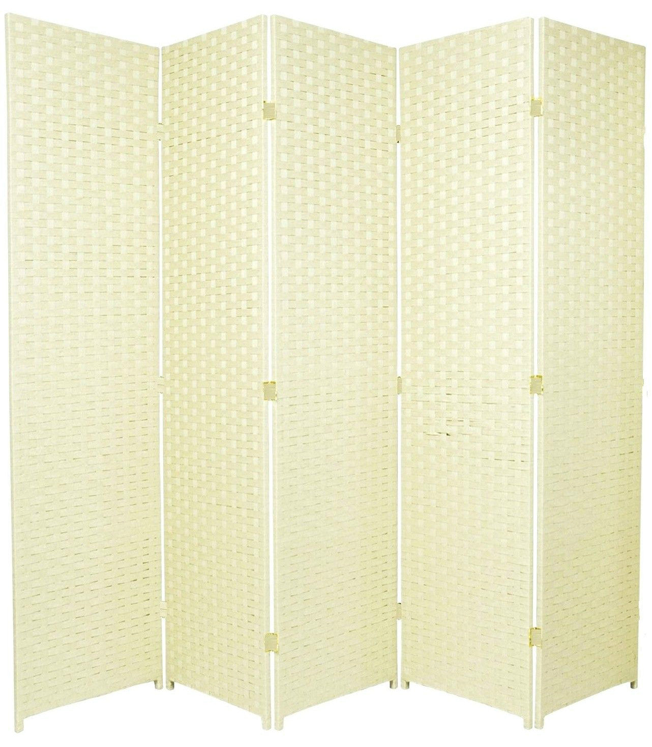 Entwine Ivory Colour Room Divider Screen - 5 Panel