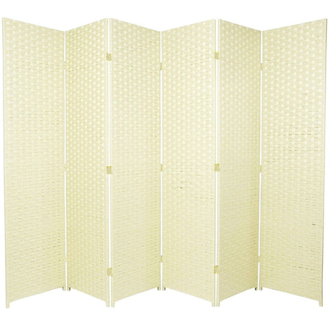 Entwine Ivory Colour Room Divider Screen - 6 Panel