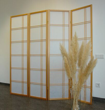 Shiro Room Divider Screen - Natural - 4 Panel
