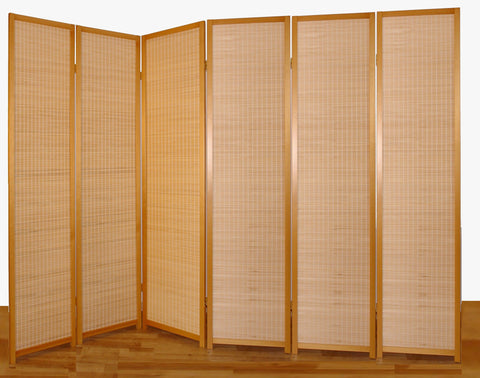 Nature Wood Room Divider - 6 Panel