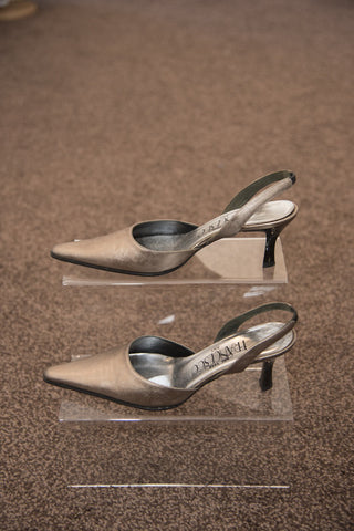 Francesco Italy copper pointed toe shoes