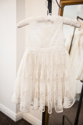 Autograph ivory flower girl or occasion dress