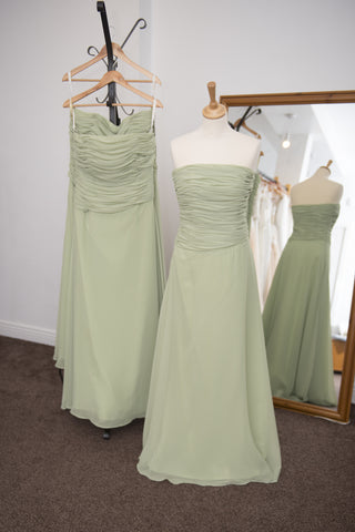 Forever Yours green full length chiffon dress
