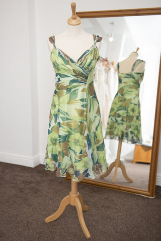 Avant Garde green mid-length print dress