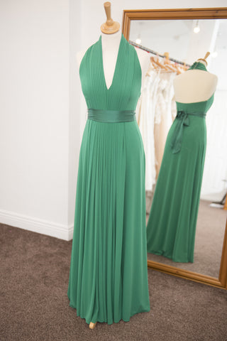 Coast green full length halter neck dress