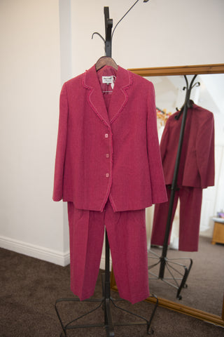 Personal Choice cerise pink trouser and jacket suit