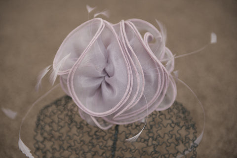 Lilac fascinator on comb