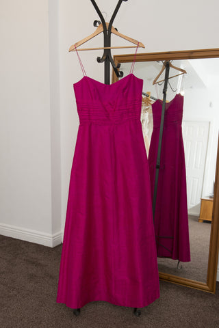 Allure Designs fuchsia pink silk dress