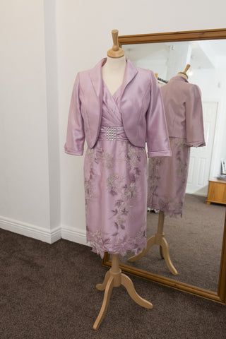 Zeila pink dress with matching jacket