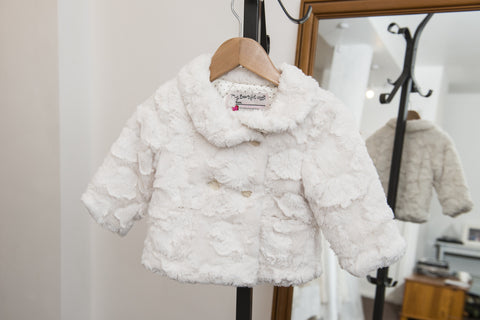 'My Beautiful Coat' ivory faux fur coat