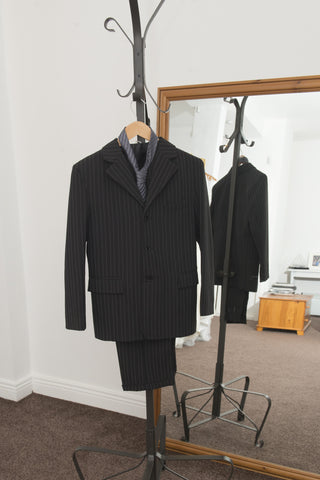 Boys' four piece pinstripe suit