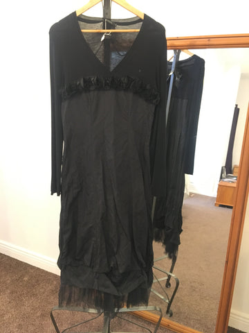 Areline black full length dress