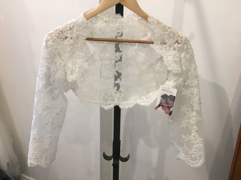 Impression Bridal diamond white lace bolero