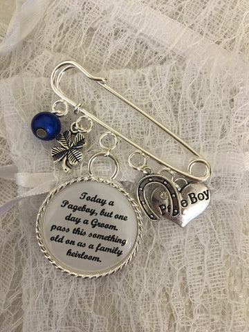 Page Boy pin with charms