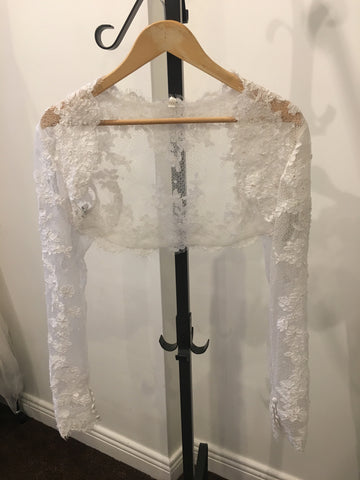 Impression Bridal off white lace bolero