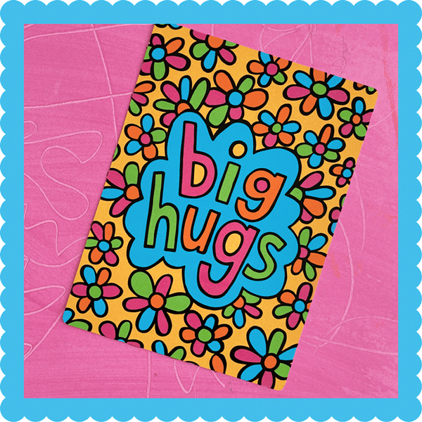 Big Hugs Postcard