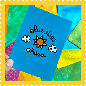 Blue Skies Ahead Postcard