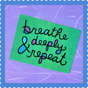 Breathe Deeply & Repeat Postcard