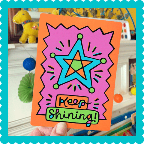 Keep Shining! Postcard