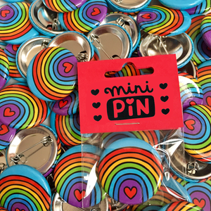 Rainbow Love Mini Pin