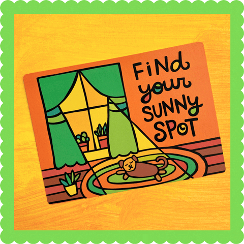 Find Your Sunny Spot Postcard