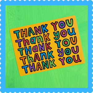 Thank You (Takeout Bag Style) Postcard