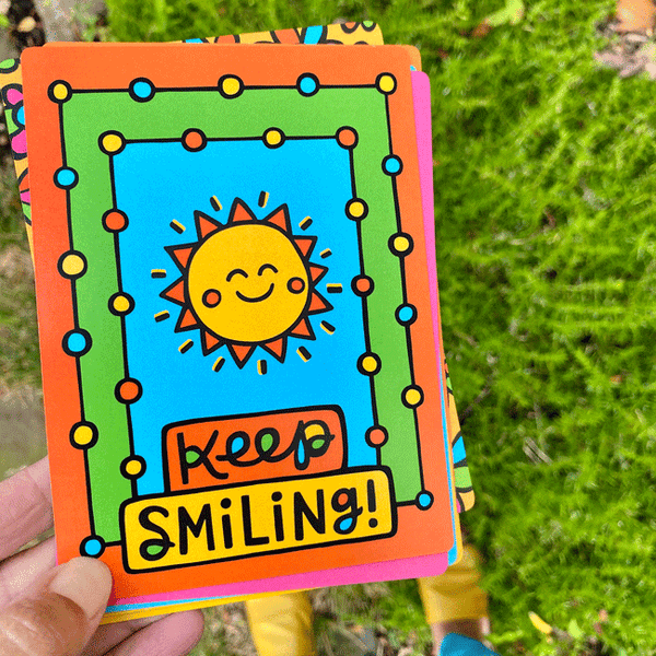 Artsyville Keep Smiling Postcard