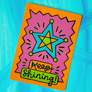 Artsyville Keep Shining Postcard