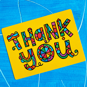 Thank You Geometric Postcard