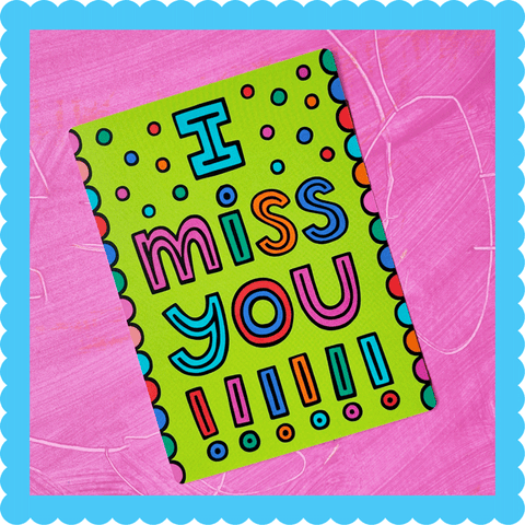 I Miss You!!! Postcard