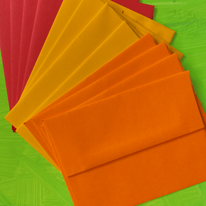 Postcard Envelopes (Pack of 12 in Apple/Lemon/Tangerine colors)