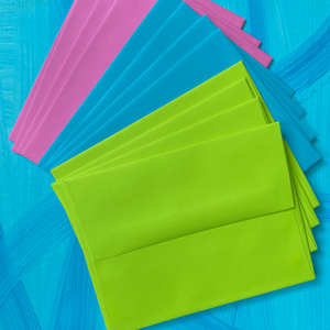 Postcard Envelopes (Pack of 12 in Grape/Blueberry/Lime colors)