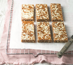 chewy almond wholefood bars Liz Richards Super Snacks