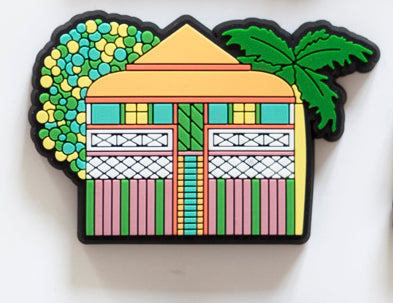 Fridge Magnet Orange Roof House
