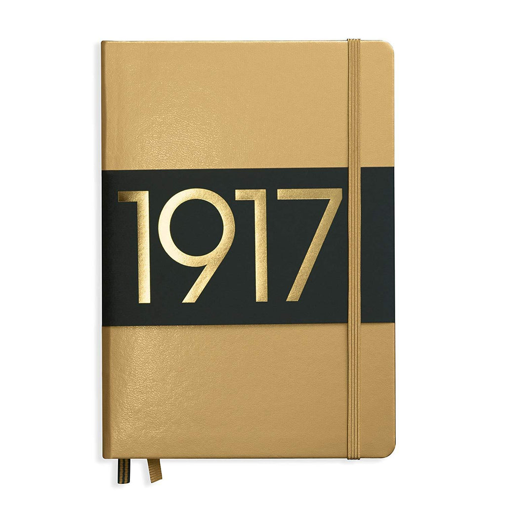 Leuchtturm1917 Notebook A5 Plain Ltd - Gold
