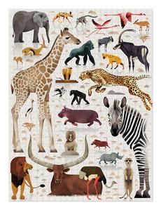 World of African Animals Puzzle