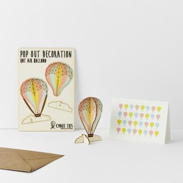Pop Out Hot Air Balloon Card