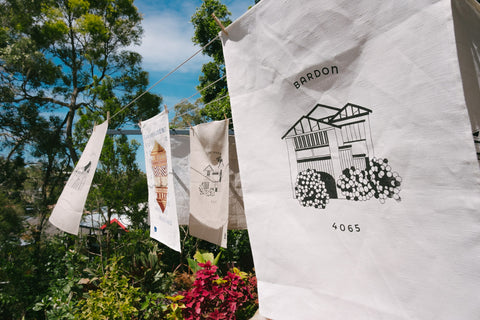 Bardon Tea Towel Flax
