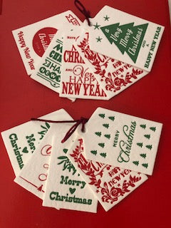 Christmas Letterpress Tag