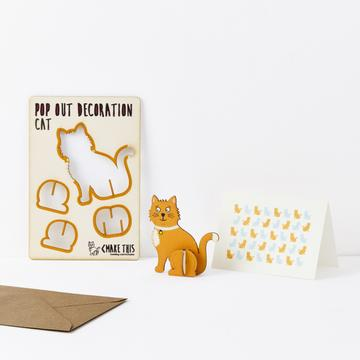 Pop Out Cat Card