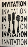 Invitation Cutlery Rubber Stamp