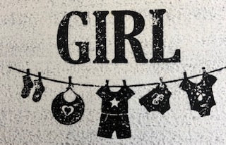 GIRL Rubber Stamp