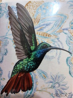 Hummingbird Portrait Card