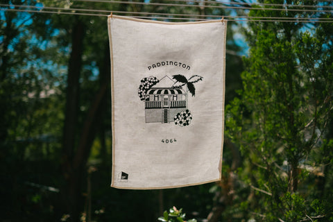 Paddington Tea Towel  Off White